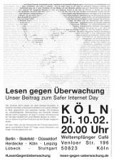 """Plakat """"Köln"""""""